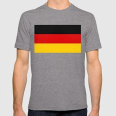 Flag of Germany - Authentic High Quality image Mens Fitted Tee Tri-Grey SMALL
