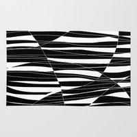Carved Black And White W… Rug