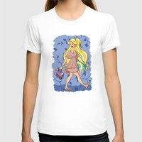 A modern princess: Rapunzel  Womens Fitted Tee White SMALL