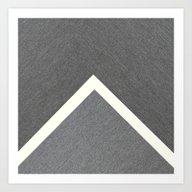 Grey Geometric CTN Art Print