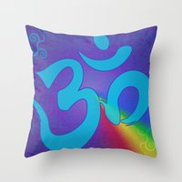 Mantra ... Aom Throw Pillow