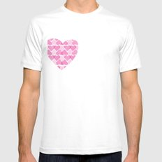 Pretty ruby heart Mens Fitted Tee White SMALL