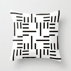 Kemper Black & White Throw Pillow