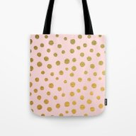 GOLDEN DOTS - PINK Tote Bag