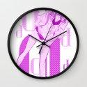 Girly Loose Knit Cardigan Wall Clock