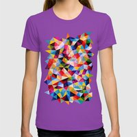 Space Shapes Womens Fitted Tee Ultraviolet SMALL