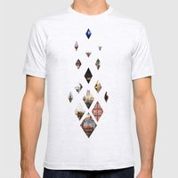 Diamante Mens Fitted Tee Ash Grey SMALL