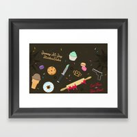 Die Hard Desserts Framed Art Print