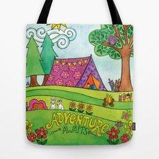 Adventure Awaits Tote Bag