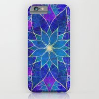 Lotus 2 - blue and purple iPhone 6 Slim Case