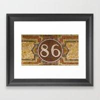 86 Framed Art Print