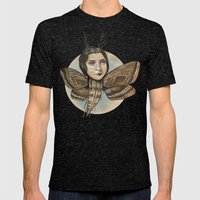 MOTH LADY Mens Fitted Tee Tri-Black SMALL