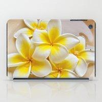 Plumeria Blossoms iPad Case