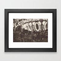 Fuzzy Carousel - B&W Framed Art Print