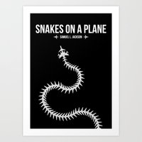 Snakes On A Plane Art Print