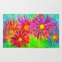 Bright Sketch Flowers Rug
