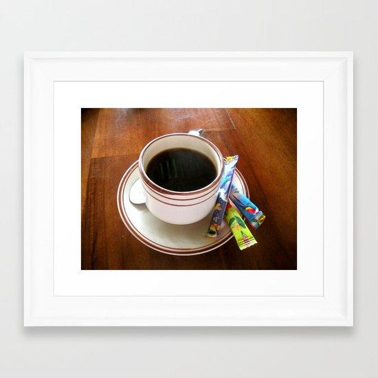 Perfect Cup of Joe Framed Art Print