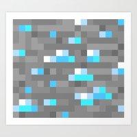 Mined Diamond Block Ever… Art Print
