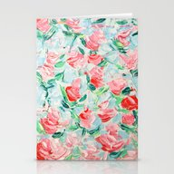 Stationery Cards featuring Pompidou Rose Garden by Ann Marie Coolick