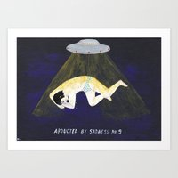 Abducted By Sadness Art Print