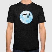 Riding The Kuwahara BMX.… Mens Fitted Tee Tri-Black SMALL