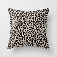 Throw Pillow featuring Tan Leopard by M Studio