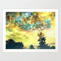 Stirring Starry Night Art Print