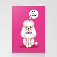 Chic Poodle Stationery Cards