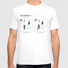 The Distrac-a-Attack White SMALL Mens Fitted Tee