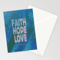 Faith,Hope,Love (Pink) Stationery Cards