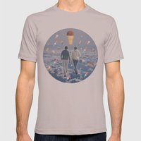 Bill & Nick's Ice Cream Adventure! Mens Fitted Tee Cinder SMALL