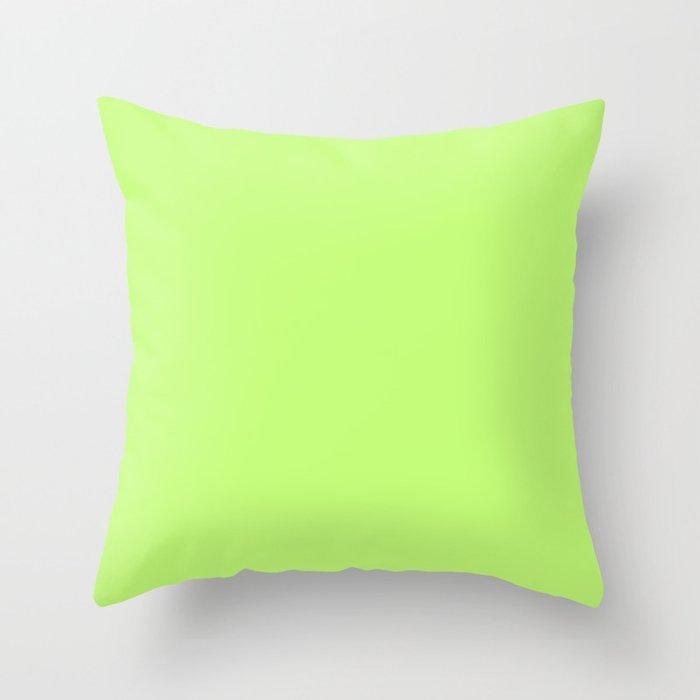 Neon Blue Throw Pillows : Neon Green Summer Throw Pillow by Pardon My Tone Society6