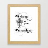Alice In Wonderland Welc… Framed Art Print