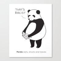 Pandas Not Guns Canvas Print