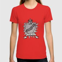 Sacred Heart - Redémpto… Womens Fitted Tee Red SMALL