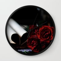 my love is like a red, red rose Wall Clock
