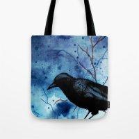 Crow Veins Watercolor/Pe… Tote Bag