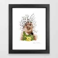 Porcupine Dude Framed Art Print