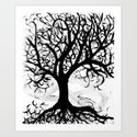 Think-tree Art Print