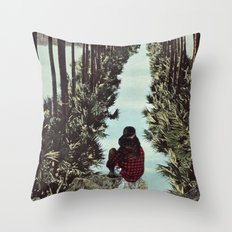 RELENTLESS CORRIDORS Throw Pillow
