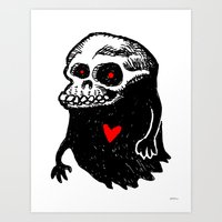Freddy, the loving Skullghost Art Print