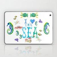 I Love the Sea Laptop & iPad Skin