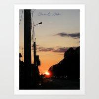 First stop, first sunset Art Print