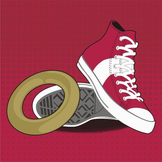 Sonic Converse - Red Art Print