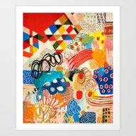 Wallpaper And Diamonds P… Art Print