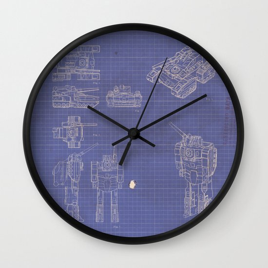 Transformer Blueprints Wall Clock