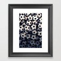 Foot-ball pattern Framed Art Print