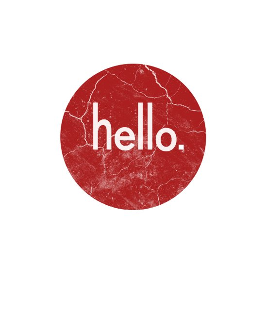 Hello - Red Art Print