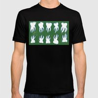 molar pattern Mens Fitted Tee Black SMALL