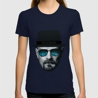 Breaking Bad Heisenberg Womens Fitted Tee Navy SMALL